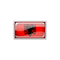 Albania Flag Stamp Icon