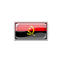 Angola Flag Stamp Icon