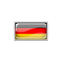 Germany Flag Stamp Icon