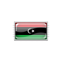 Libya Flag Stamp Icon