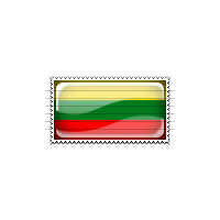 Lithuania Flag Stamp Icon