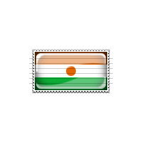 Niger Flag Stamp Icon