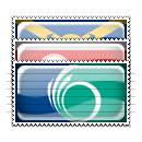 Canada City Flag Stamp Icons Set