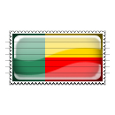 Benin Flag Stamp Icon