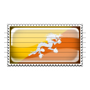 Bhutan Flag Stamp Icon