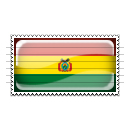 Bolivia Flag Stamp Icon