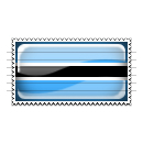 Botswana Flag Stamp Icon