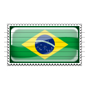 Brazil Flag Stamp Icon