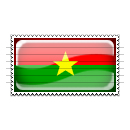 Burkina Faso Flag Stamp Icon