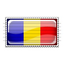 Chad Flag Stamp Icon