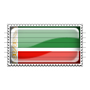 Chechnya Flag Stamp Icon