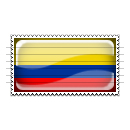 Colombia Flag Stamp Icon