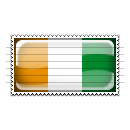 Cote d'Ivoire Flag Stamp Icon