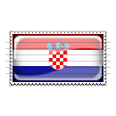 Croatia Flag Stamp Icon