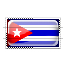 Cuba Flag Stamp Icon