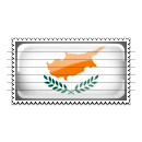 Cyprus Flag Stamp Icon