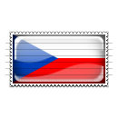 Czech Republic Flag Stamp Icon