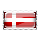Denmark Flag Stamp Icon