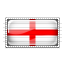 England Flag Stamp Icon