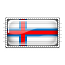 Faroe Islands Flag Stamp Icon