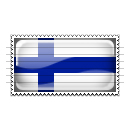Finland Flag Stamp Icon