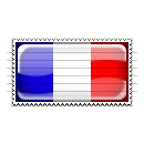 France Flag Stamp Icon