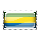 Gabon Flag Stamp Icon