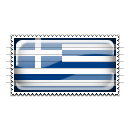 Greece Flag Stamp Icon