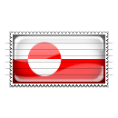 Greenland Flag Stamp Icon