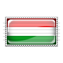 Hungary Flag Stamp Icon