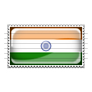 India Flag Stamp Icon