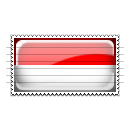 Indonesia Flag Stamp Icon