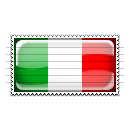 Italy Flag Stamp Icon