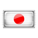 Japan Flag Stamp Icon