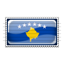 Kosovo Flag Stamp Icon