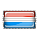 Luxembourg Flag Stamp Icon