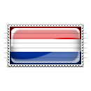 Netherlands Flag Stamp Icon