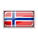 Norway Flag Stamp Icon