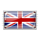 United Kingdom Flag Stamp Icon