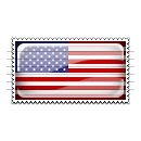 United States Flag Stamp Icon