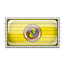 Honolulu, Hawaii Flag Stamp Icon