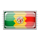 Los Angeles, California Flag Stamp Icon
