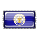 Louisville, Kentucky Flag Stamp Icon