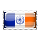 New York City, New York Flag Stamp Icon