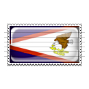 American Samoa Flag Stamp Icon