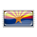 Arizona Flag Stamp Icon