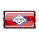 Arkansas Flag Stamp Icon