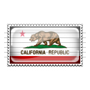 California Flag Stamp Icon