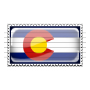 Colorado Flag Stamp Icon