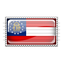 Georgia Flag Stamp Icon